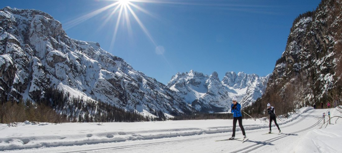 Splendid cross-country skiing tracks